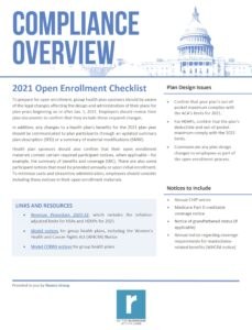 2021 Open Enrollment Checklist