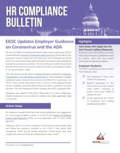 EEOC Updates Employer Guidance on Coronavirus and the ADA