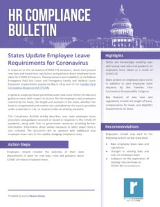 States Update Leave Rules in Response to Coronavirus-6.25.20