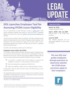 DOL Releases Employee Tool for FFCRA leave