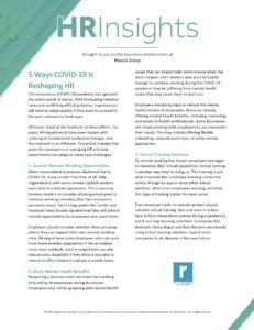 5 Ways COVID-19 Is Reshaping HR
