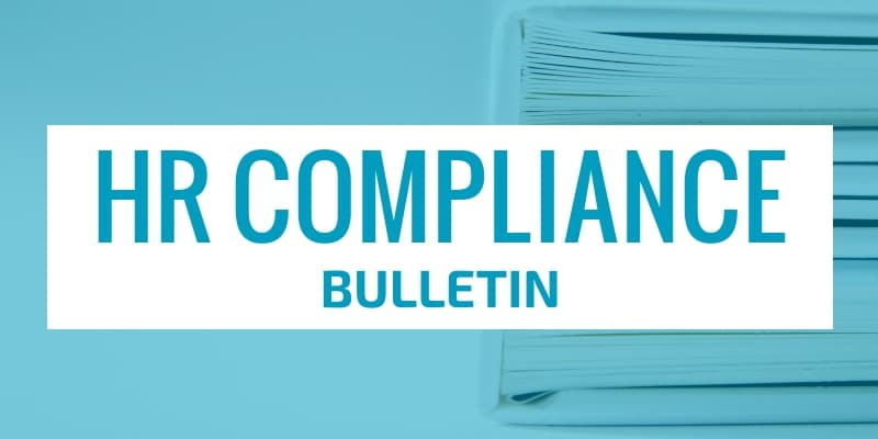 HR Compliance Bulletin header