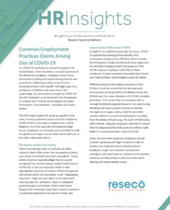 Common Employment Practices Claims Arising Out of COVID