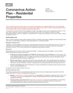 Coronavirus Action Plan - Residential Properties