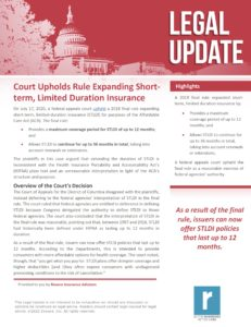 Court Upholds Rule Expanding Short-term Limited-duration Insurance