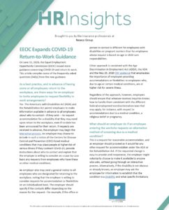 EEOC Expands COVID-19 Return to Work Guidance