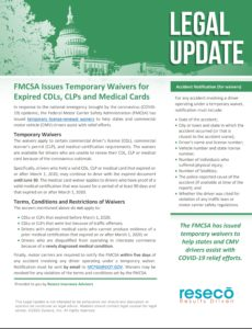 FMCSA Issues Temporary Waivers for Expired CDLs, CLPs and Medical Cards