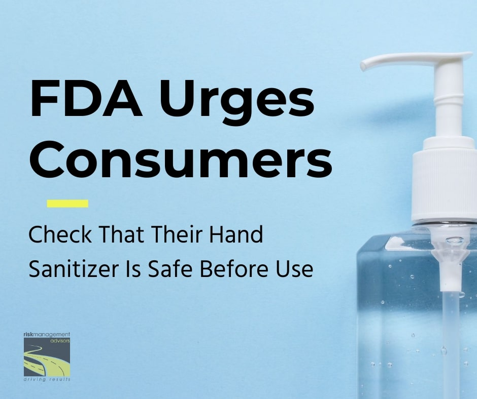 FDA Urges Consumers to check that their hand sanitizer is safe image