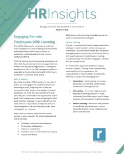 HR Insights - Engaging Remote Employees With Learning