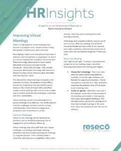HR Insights - Improving Virtual Meetings