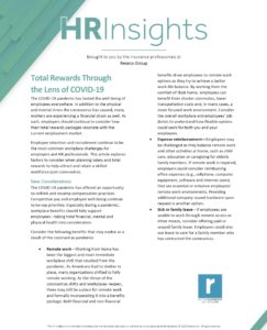 HR Insights - Total Rewards Through the Lens of COVID-19