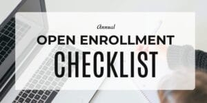 Annual open enrollment checklist banner