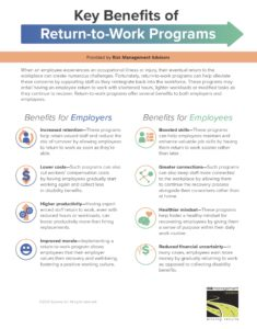 Key Benefits of Return-to-Work Programs-Infographic