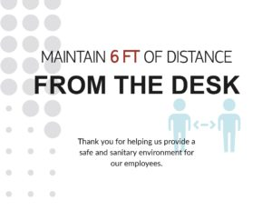 Maintain-6-Feet-of-Distance-From-Desk-Poster