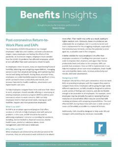 Post-coronavirus Return-to-Work Plans and EAPs