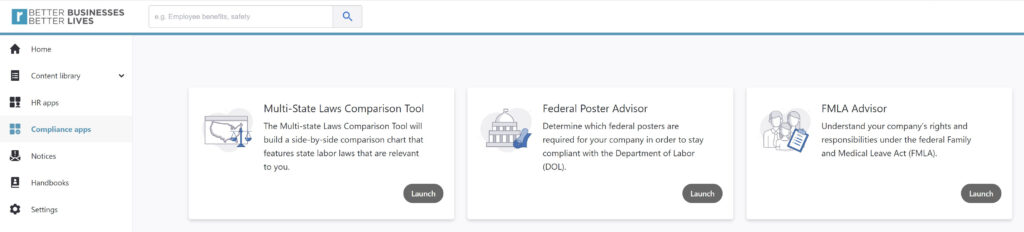 Image of Compliance apps on ResecoConnect portal page