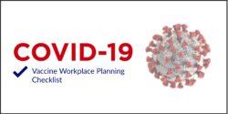 COVID Vaccine workplace planning checklist header