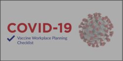 COVID Vaccine workplace planning checklist header hover